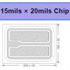 PW15*20mil光效高UVB UVC芯片